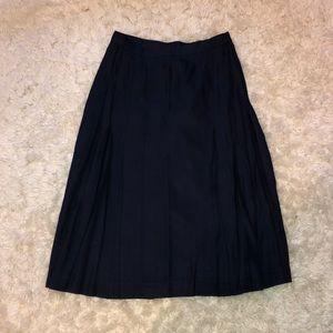 Dresses & Skirts - Long blue pleated skirt size 8